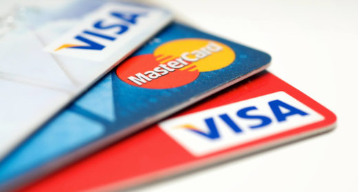 VISA, Mastercard and Union pay credit cards